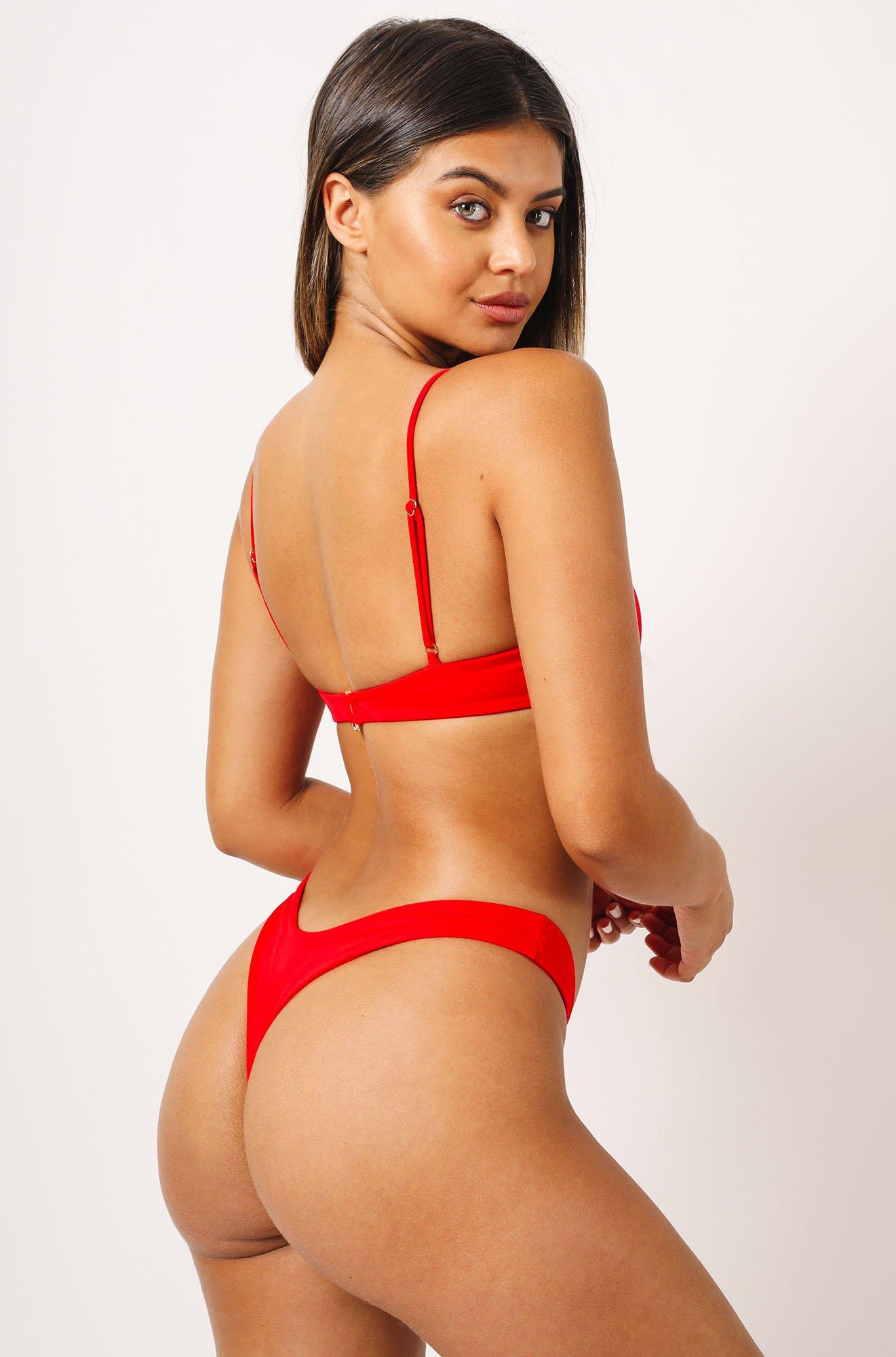 Mia Bikini Top in Red