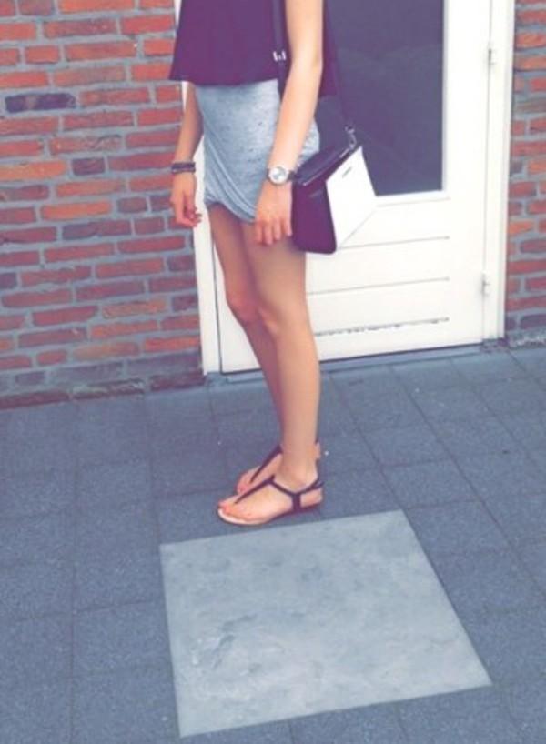 skirt grey tight skirt
