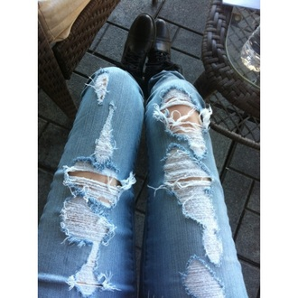 jeans ripped jeans ripped hipster grunge