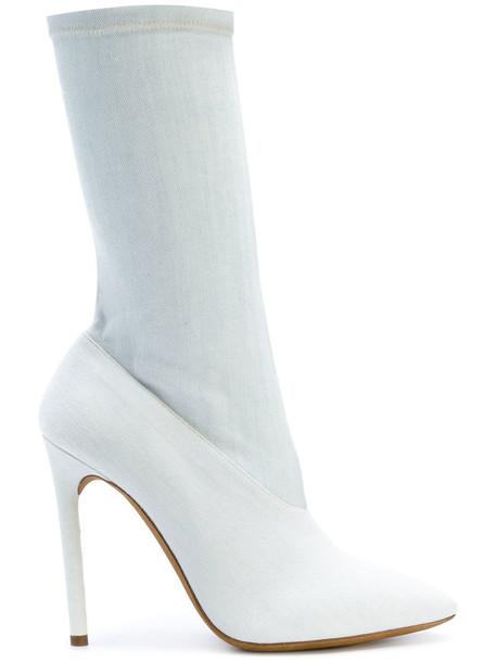 yeezy denim women leather cotton blue shoes