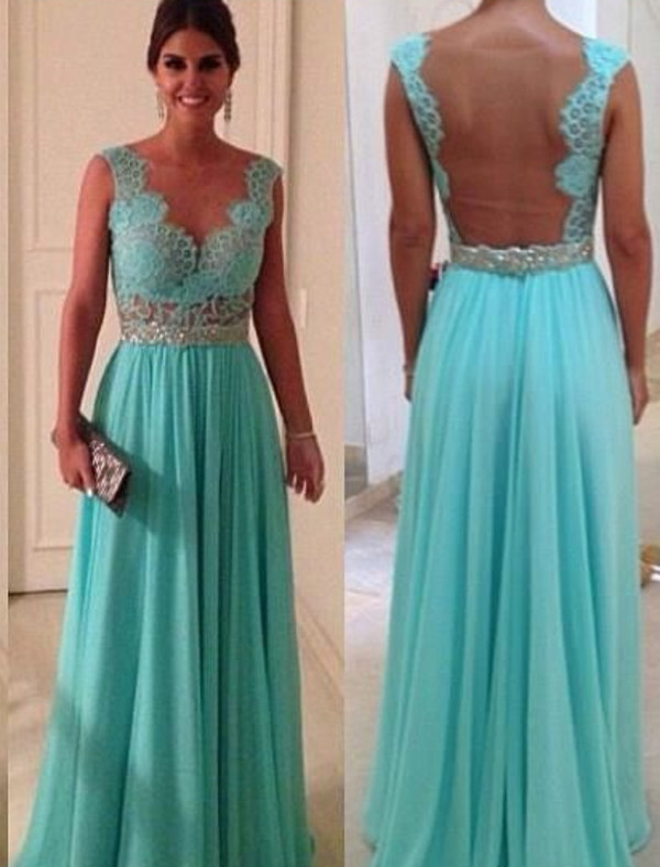 dress sparkly dress backless blue formal long dress tiffany blue dress teal bridesmaid