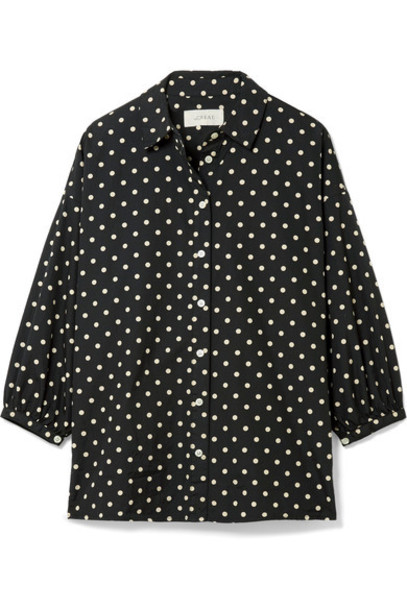 The Great shirt cotton black top