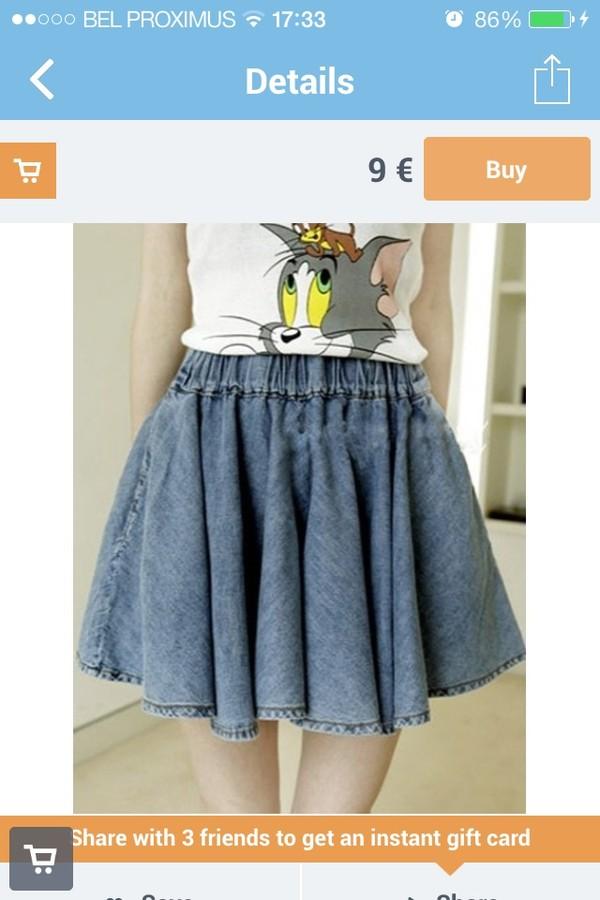 skirt denim skirt girly jeans musthave