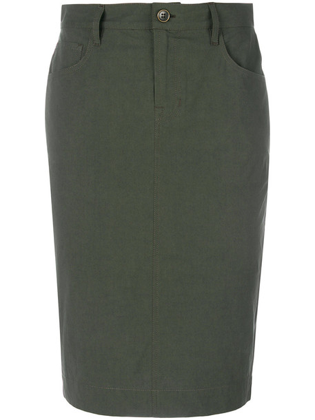 Tomas Maier skirt women spandex sporty cotton green
