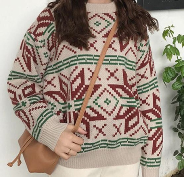 sweater girly knitwear knit knitted sweater jumper christmas sweater christmas