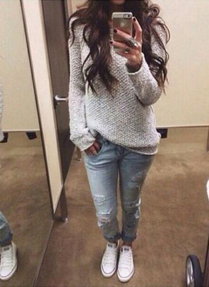 shoes vans jeans knit sweaters light blue jeans