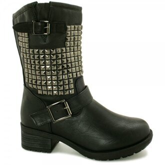 shoes boots studded stud buckles