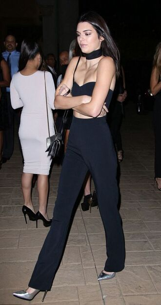 top crop tops bustier crop top kendall jenner pants pumps shoes