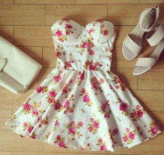 dress fashion floral dress beautiful