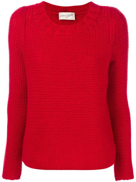Antonia Zander jumper women knit red sweater