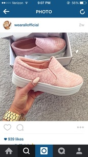 shoes,pink,platform sneakers,pink shoes,shoes pink,platform shoes,snake,vans,summer,girly,girl,sneakers,pretty,fashion,cool