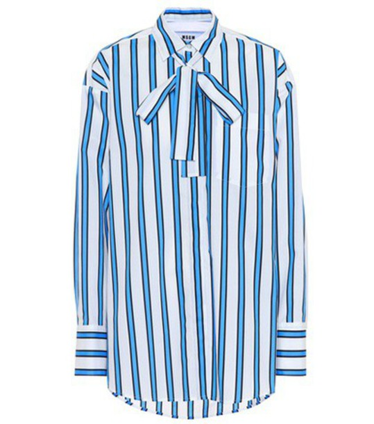 MSGM shirt oversized cotton blue top