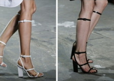Sexy Gladiator Bandage Sandals White Black Knee High Platform Sandals Heels Boots - Juicy Wardrobe
