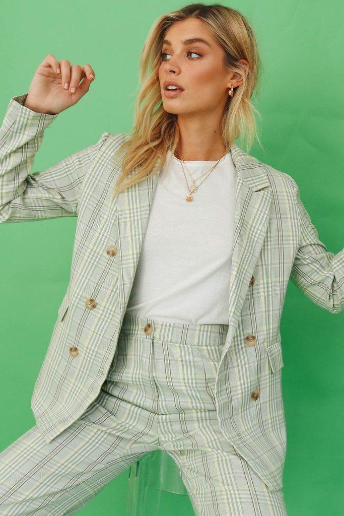 American Woman Jacket // Green Check