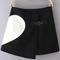 Heart pattern wrap black skirt