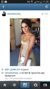 dress,rahnee,bransby,gold,formal dress,lace,ball gown dress,prom dress,long prom dress