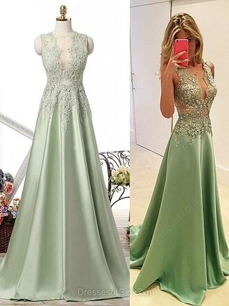 dress green elegant prom fashion lace long dress maxi dress dressofgirl