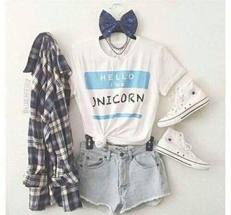 t-shirt unicorn tumblr unicorn shirt tumblr outfit