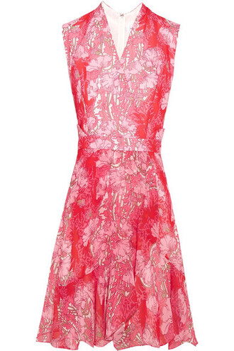 dress mini dress mini floral print red