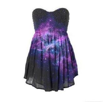 dress black black dress galaxy dress galaxy glitter dress glitter