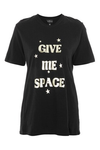 t-shirt shirt space black top