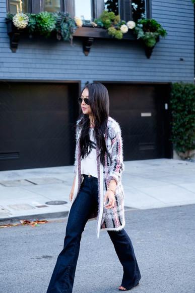 blogger sunglasses bag jeans the fancy pants report cardigan jewels