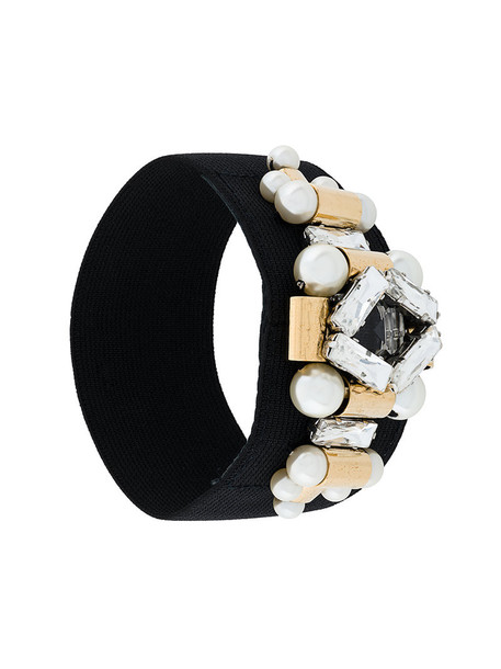 women embellished black silk jewels