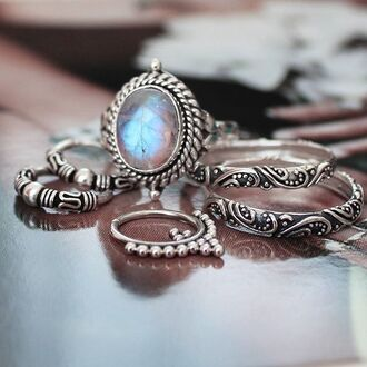 jewels shop dixi gypsy boho bohemian hippie grunge jewelry jewelery sterling silver silver moonstone ring moonstone rings knuckle ring midirings silver midi rings above the knuckle ring above knuckle ring gemstone stone rings stone ring blue stone ring dainty rings dainty ring gypsy jewelry gypsy jewels gypsy rings