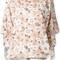 Chloé - floral print shirt - women - cotton - 38, nude/neutrals, cotton