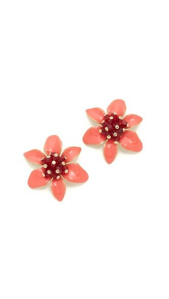 lovely statement earrings stud earrings coral jewels