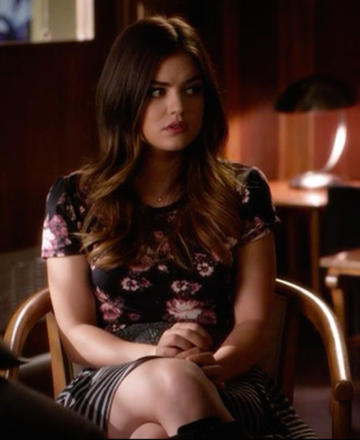 top lucy hale aria montgomery pretty little liars skirt