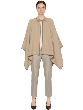 cape wool beige top