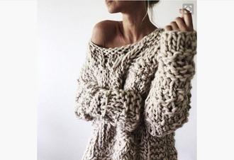 sweater cozy sweater knitted sweater grey chunky knit chunky knit sweater wool sweater cozy big cozy sweater knitwear grey sweater fall outfits fall sweater fall colors wool winter outfits winter sweater heavy knit jumper