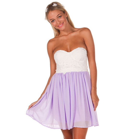 dress purple dress white dress lace city beach short party dress
