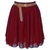 Lady Women Chiffon Mini Skirts Pleated Retro High Waist Double Layer 25 Colors | eBay