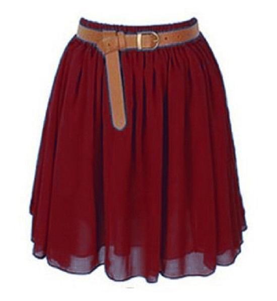 Lady Women Chiffon Mini Skirts Pleated Retro High Waist Double Layer 25 Colors   eBay