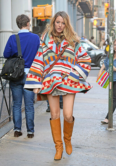 blake lively skirt coat fall outfits