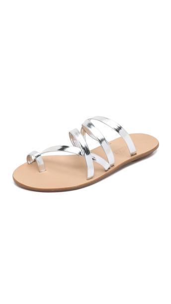 Loeffler Randall Sarie Sandals - Silver