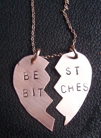 jewels gold best bitches necklace friends gold necklace