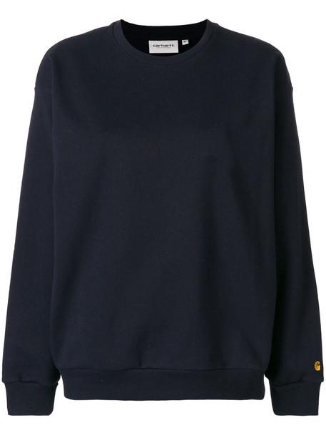 Carhartt jumper long women cotton blue sweater
