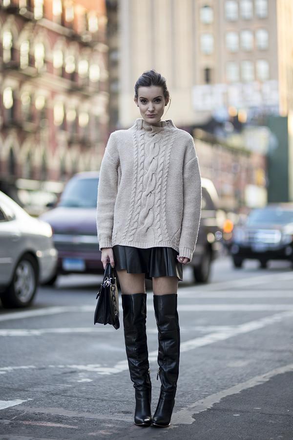 anouska proetta brandon sweater skirt shoes bag