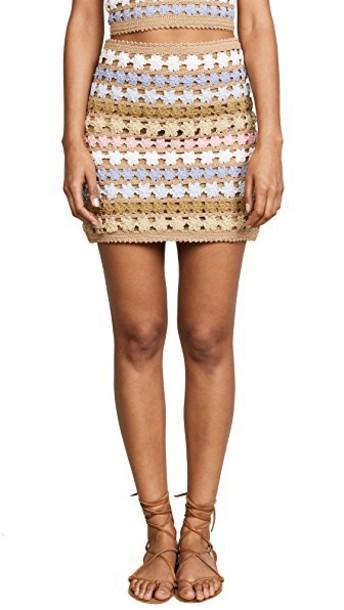 She Made Me skirt crochet skirt crochet floral
