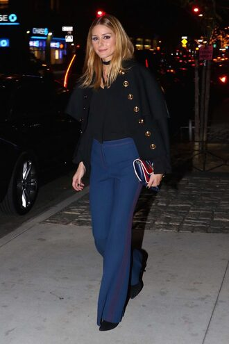 jeans flare jeans olivia palermo top