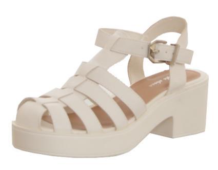 Multi Strap Heeled Sandal White: White - £24.99 - Sandals / Flip Flops from Peppermint