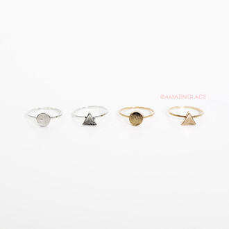 jewels ring shapes gold silver knuckle ring accessories