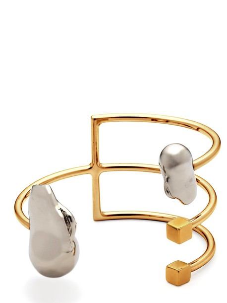 CATERINA ZANGRANDO Ace Cuff Bracelet in gold / silver