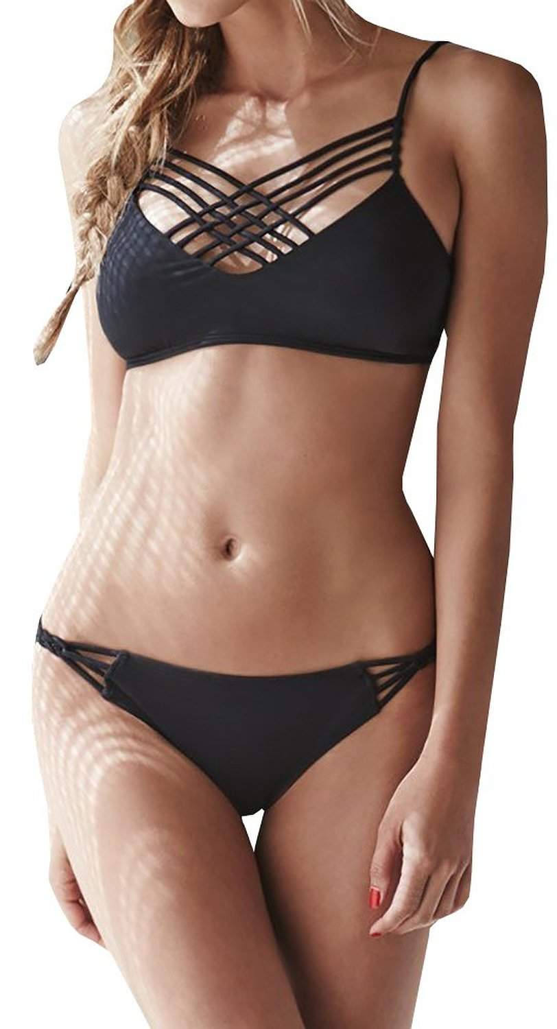 Pxmoda Women's Sexy 2016 Fashion Bandage Bikini Set at Amazon Women's Clothing store: