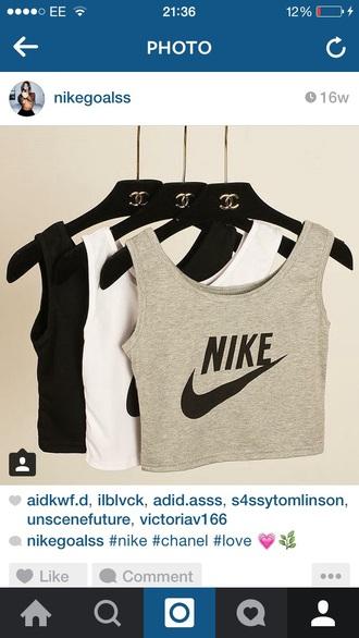 top nike chanel vest crop tops grey adidas