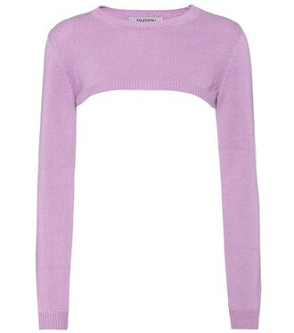 sweater cropped purple