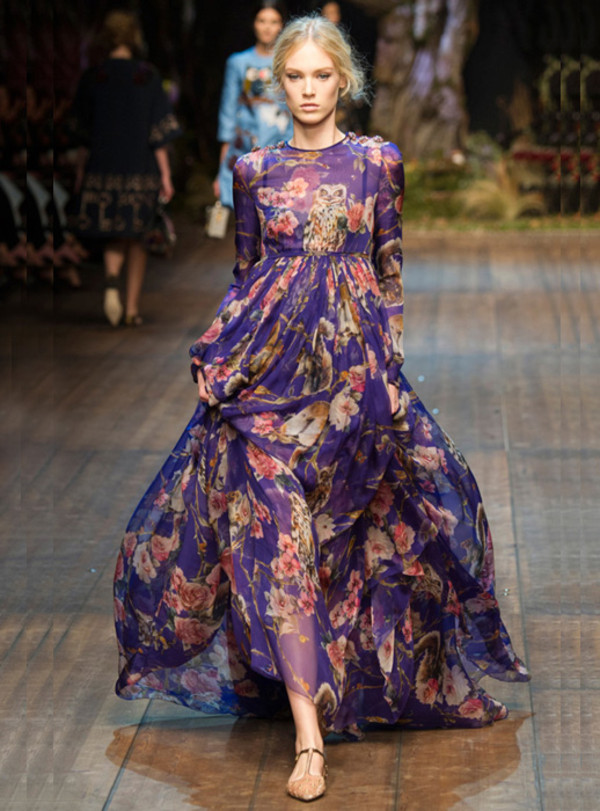 dress maxi dress long sleeves long dress floral purple prom fall outfits evening dress floral maxi dress